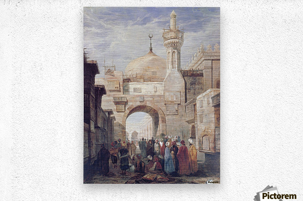 Mosque of Al Azhar in Cairo  Metal print