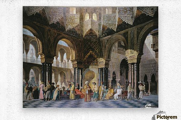 Interior of an oriental mosque  Metal print