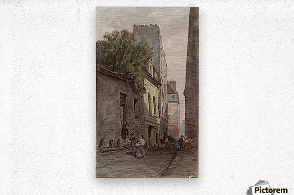 Maison du diacre Francois de Paris rue des Bourguignons  Metal print