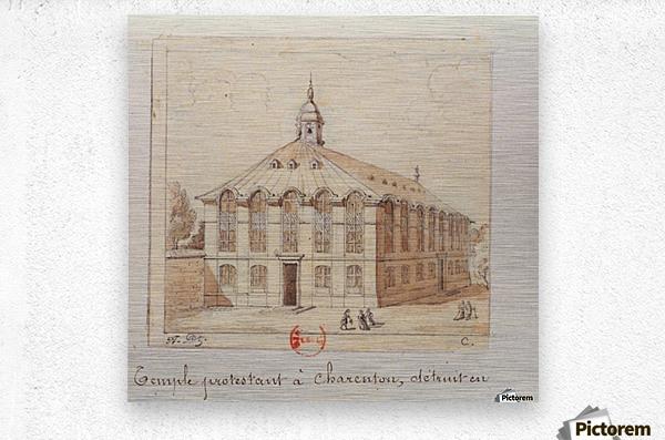 Temple protestant a Charenton detruit en 1686  Metal print