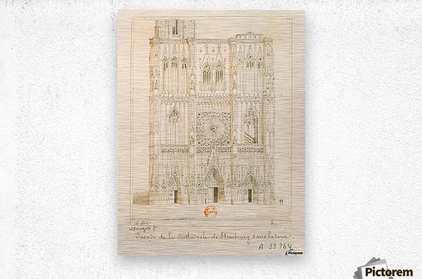 Facade de la cathedrale de Strasbourg  Metal print
