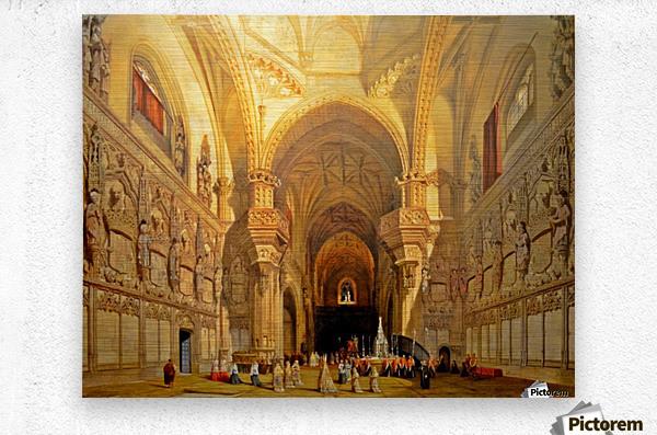 Interieur de la cathedrale Saint-Jean-des-Rois de Tolede  Metal print