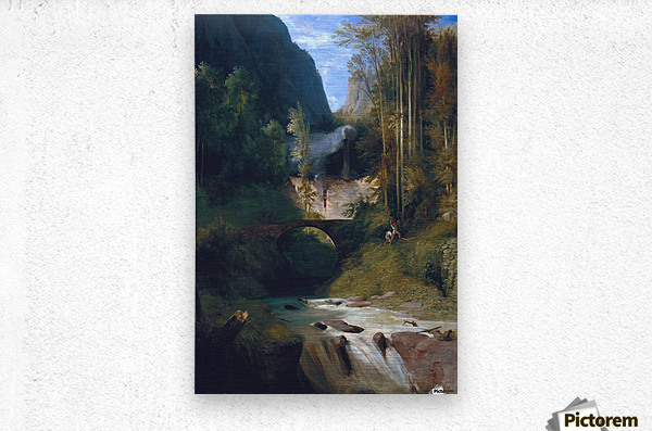 Schlucht bei Amalfi, 1831  Metal print