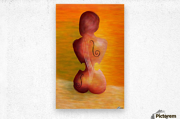 Vioseussa V1 - violin lady  Metal print