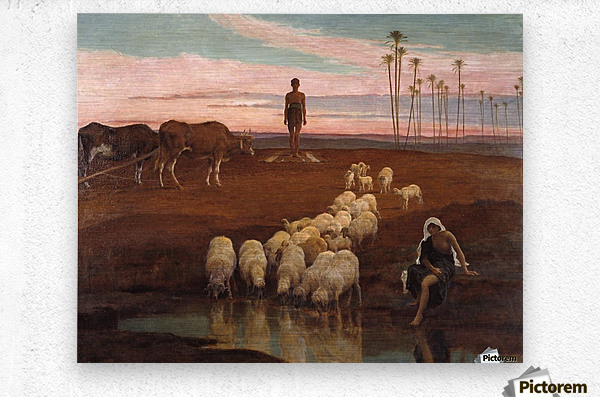 The Ploughman and the Shepherdess  Metal print
