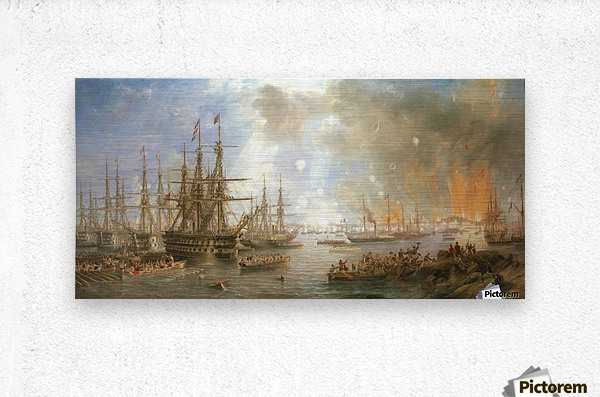 The Bombardment of Sveaborg  Metal print