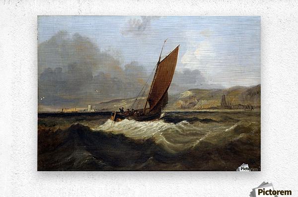 Sailing Boat off the Coast  Metal print