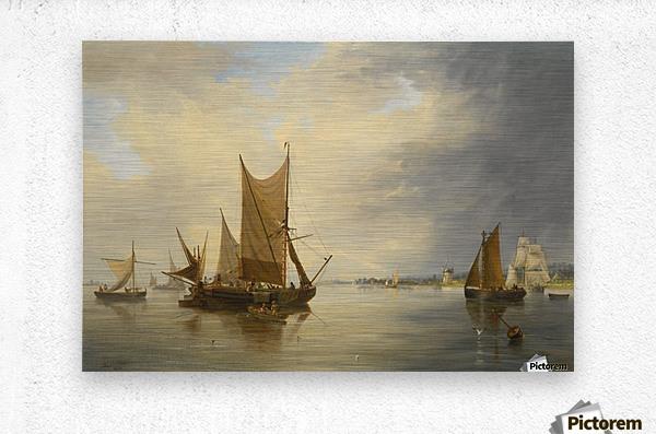 Sailing on the sea  Metal print