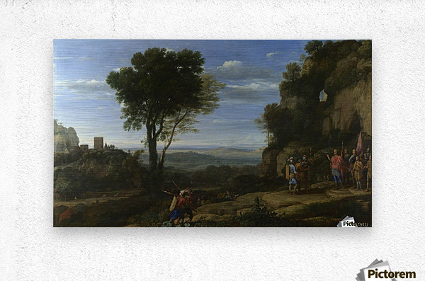 Landscape With David At The Cave Of Adullam  Metal print