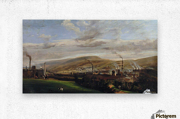 South Wales Industrial Landscape  Metal print