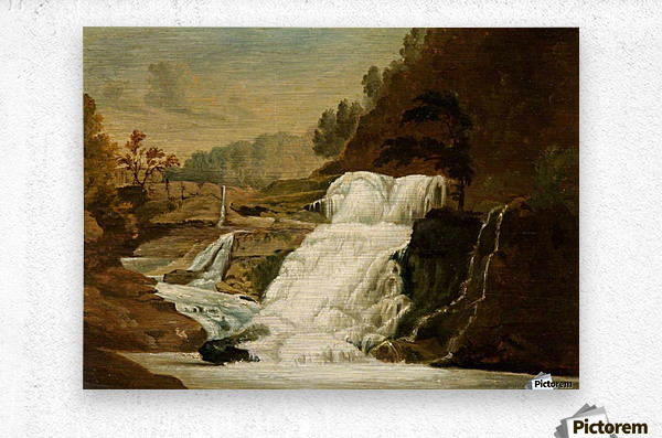 Waterfall in the Neath Valley  Metal print