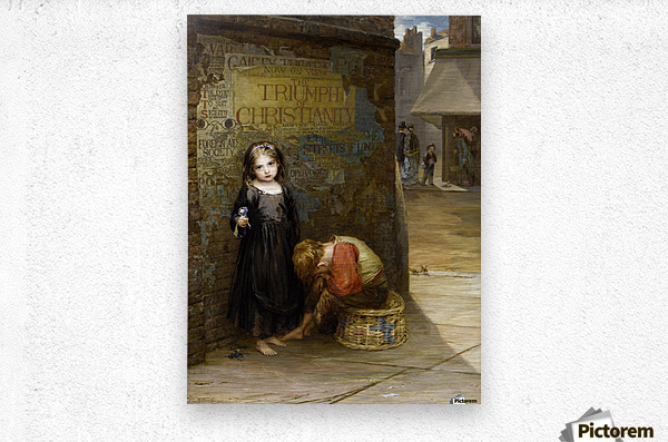 Uncared for 1871  Metal print