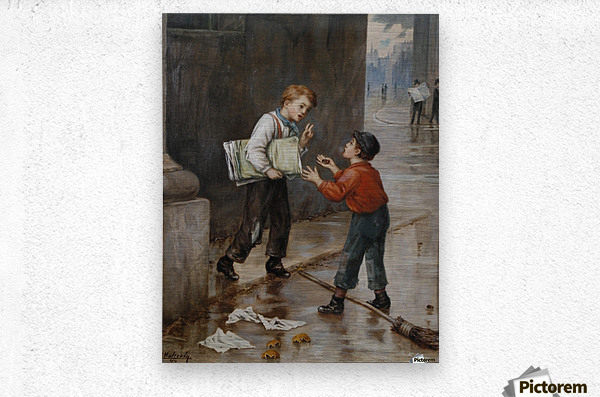 Luck in a Moment 1874  Metal print