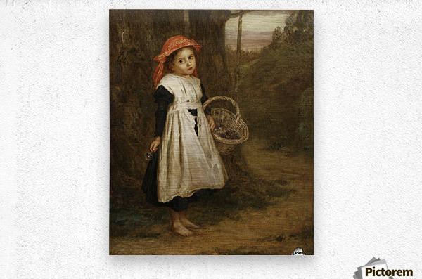 A Little Violet Seller 1877  Metal print