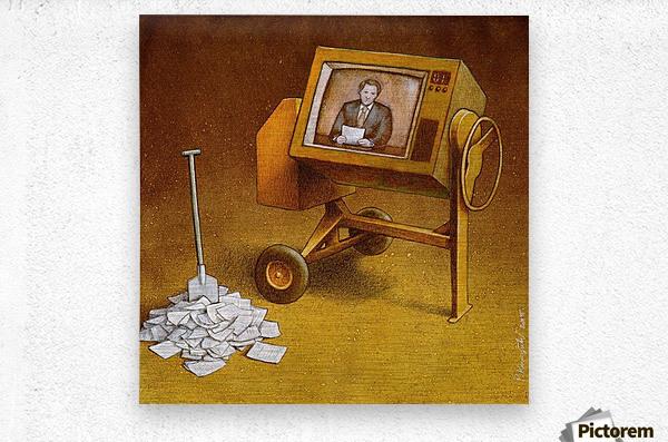 concrete mixer ( propaganda )  Metal print