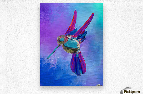 Glass Bird Abstract   Metal print