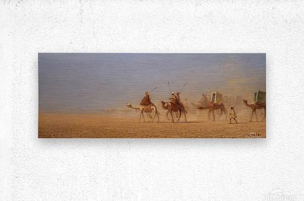 Caravanes traversant le desert  Metal print