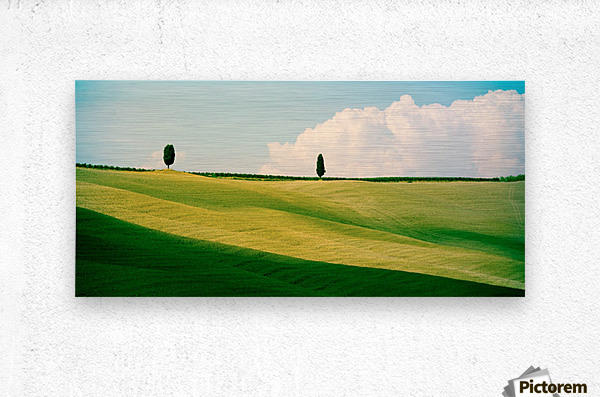 Tuscany Curves  Metal print
