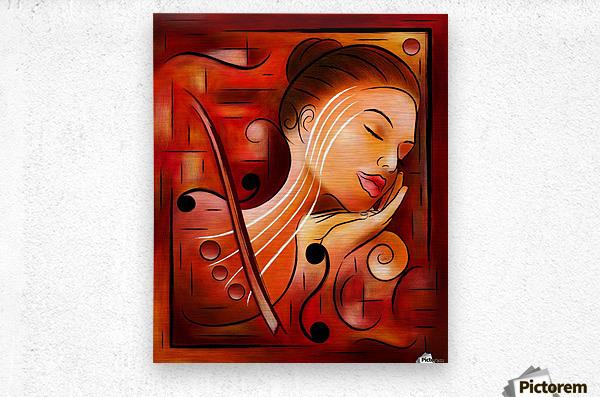 Casselopia - Violin dream  Metal print