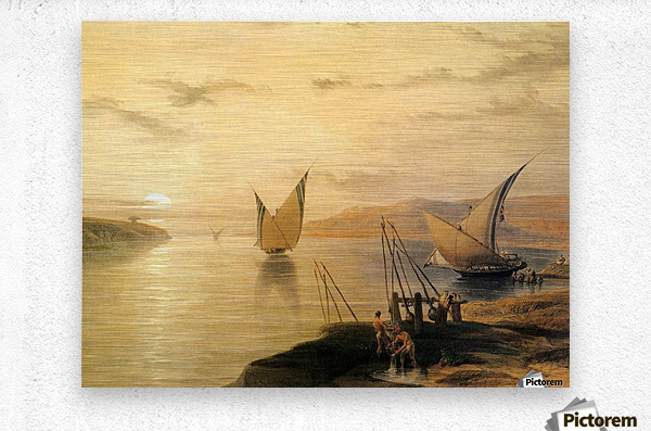 Gebel El Silsilis 1838  Metal print