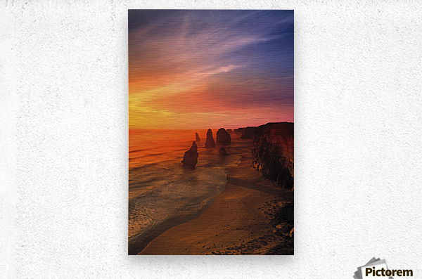 Sunset And Rock Formations  Metal print
