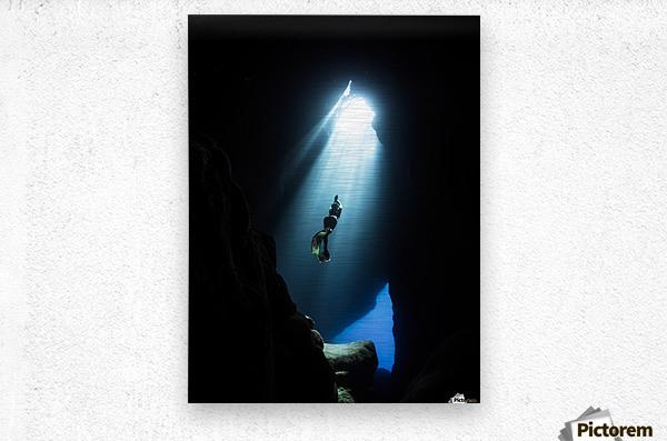 dark cave ver  Metal print
