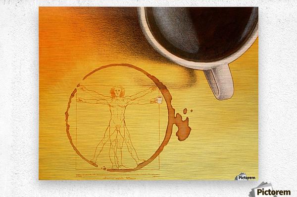 coffee man  Metal print