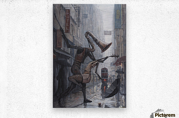 Life is a Dance in The Rain  Metal print