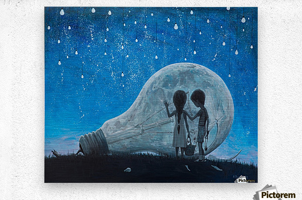 The Night We Broke The Moon  Metal print