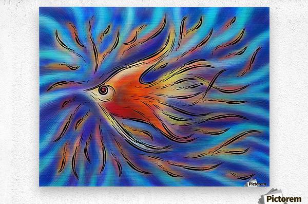 Poloniussa - red angelfish  Metal print