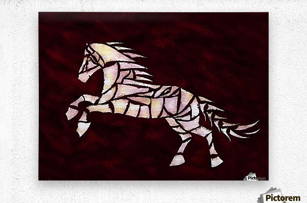Cavallerone - white horse  Metal print