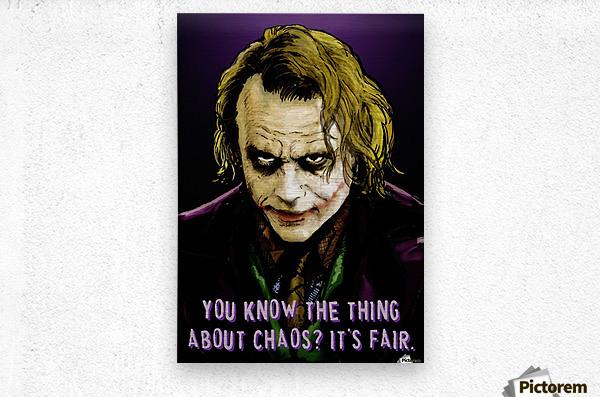 The Joker Says  Metal print