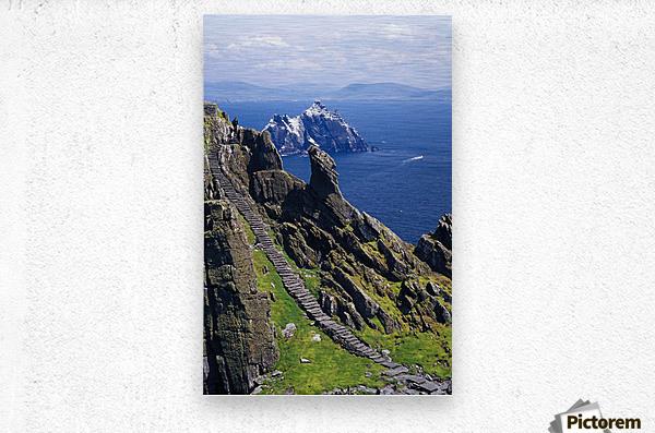 Stone Stairway, Skellig Michael, Skellig Islands, County Kerry, Ireland  Metal print