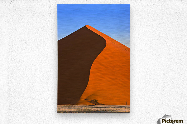 Sand Dune, Sossusvlei, Namib Desert, Namibia, Africa  Impression metal
