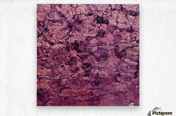 psychedelic grunge painting abstract texture in pink  Metal print