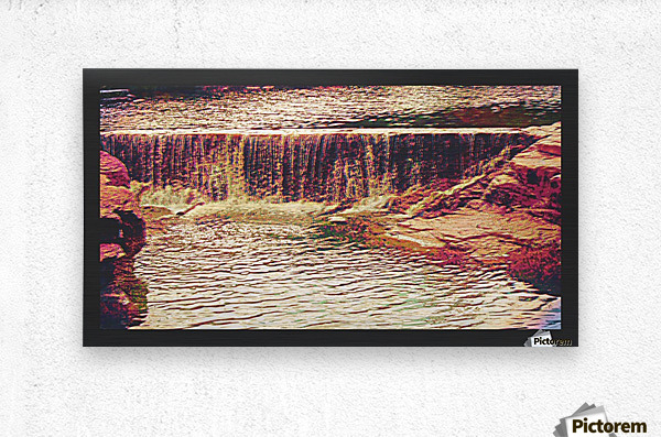 Medicine Park waterfall pic art  Metal print