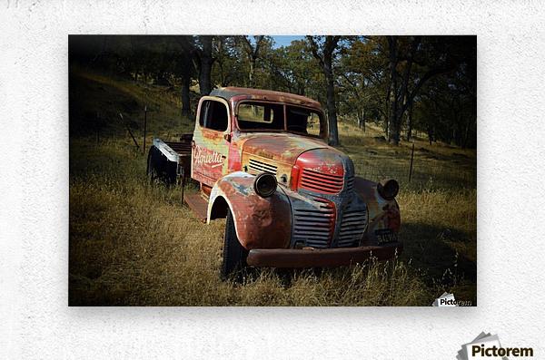 Abandoned Dodge Truck  Metal print