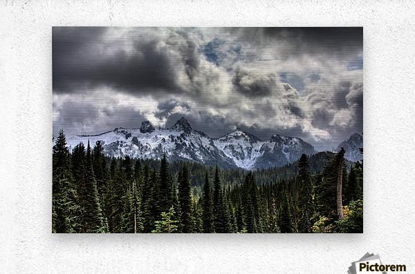 Storm Clouds, Mount Rainier, Pierce County, Washington  Metal print