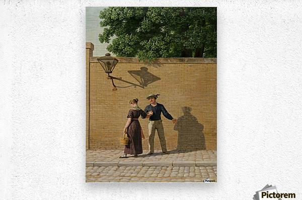 A sailor taking leave of his girlfriend 1840  Metal print