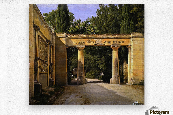View of the Garden of the Villa Borghese in Rome  Metal print