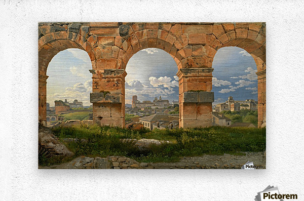 A View through Three of the North-Western Arches of the Third Storey of the Coliseum in Rome, 1815  Metal print