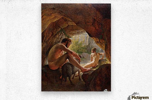 Odysseus flygter fra Polyfem  Metal print