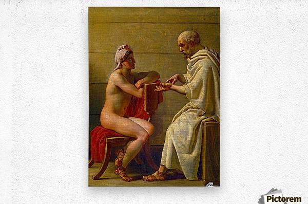 Socrates and Alcibiades  Metal print