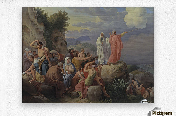 Israelites resting after the crossing of the Red Sea, 1815  Metal print
