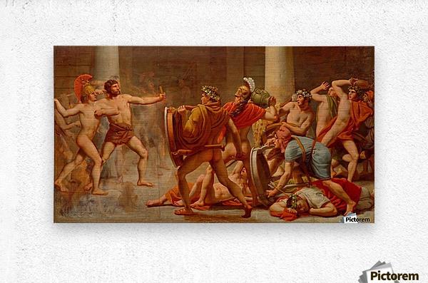 Ulysses revenge on Penelopes suitors  Metal print