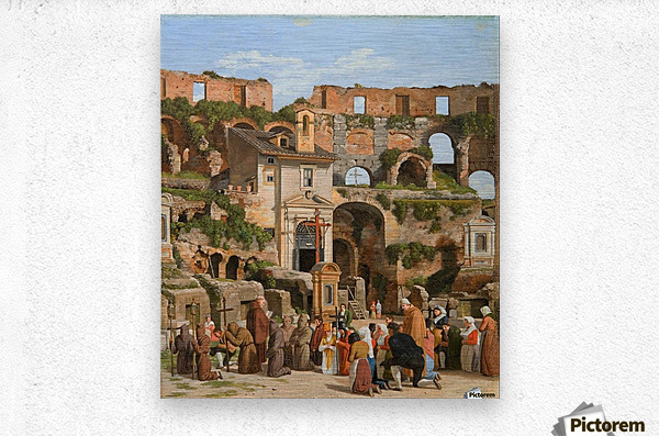 View of the interior of the Colosseum  Metal print