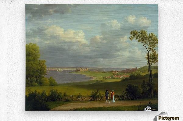 View north of Kronborg Castle  Metal print