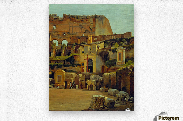 Interior of the Colosseum in Rome  Metal print