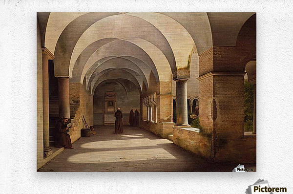 The Cloisters, San Lorenzo fuori le mura  Metal print