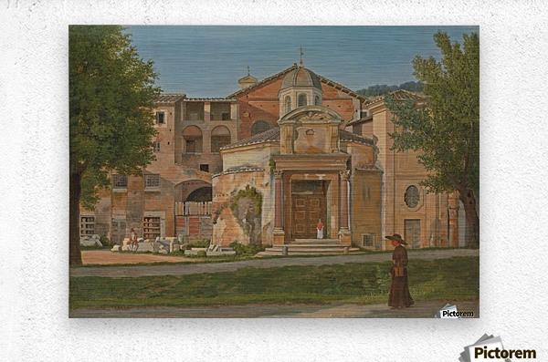 A Section of the Via Sacra, Rome  Metal print